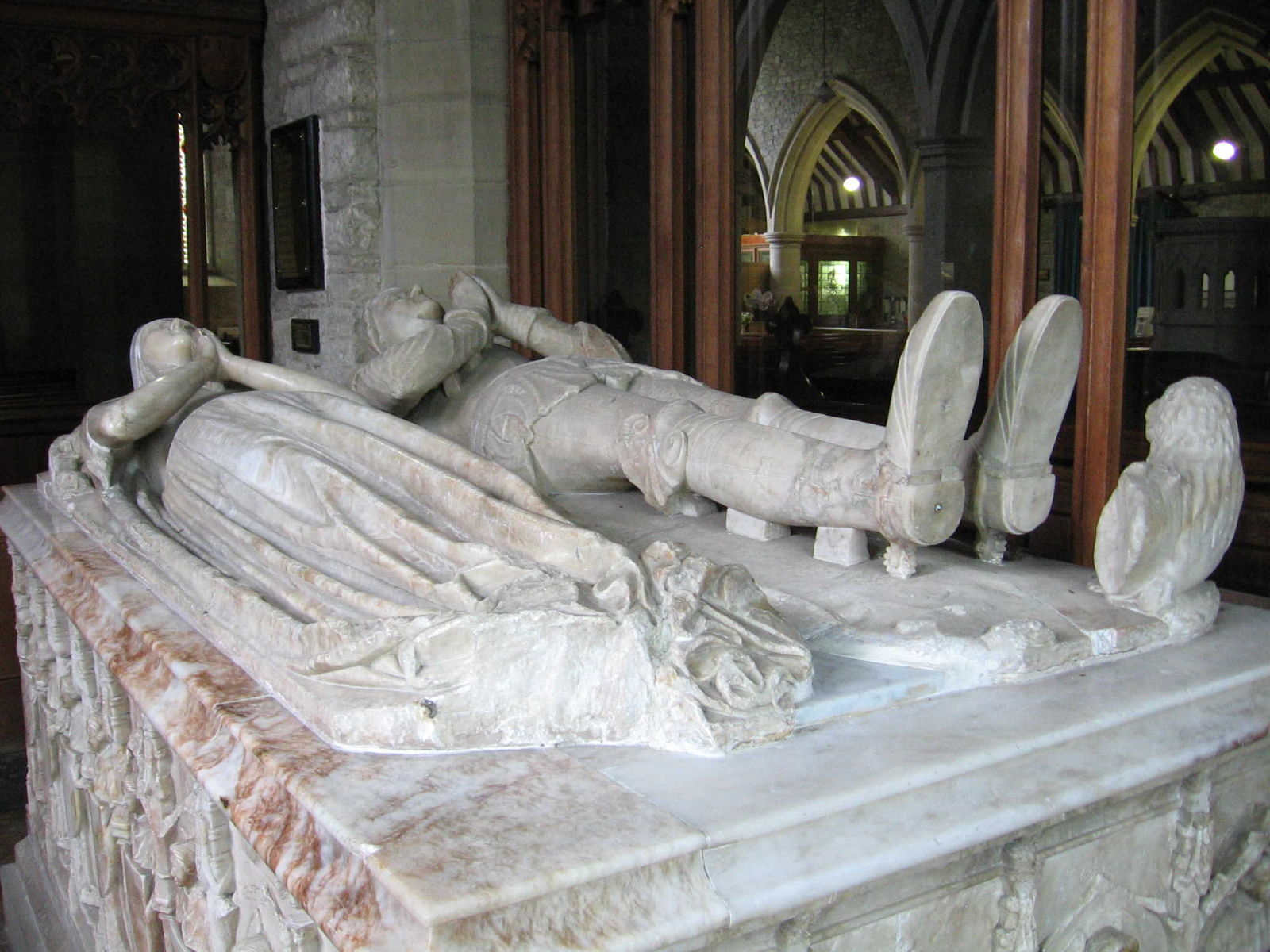 the tomb of Thomas Vaughan
